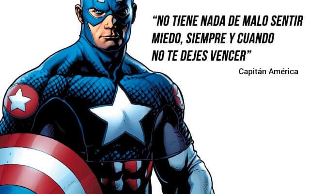 Frases de superheroes de motivacion - frases de capitan america