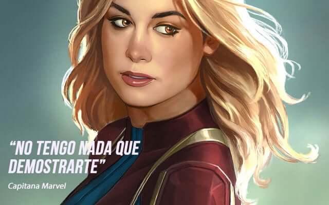 frases de superheroes de motivacion - frases de capitana marvel