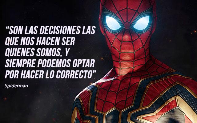 frases de superheroes de motivacion - frases de spiderman