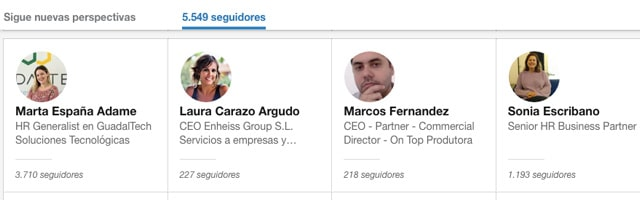 saber quien me sigue en linkedin