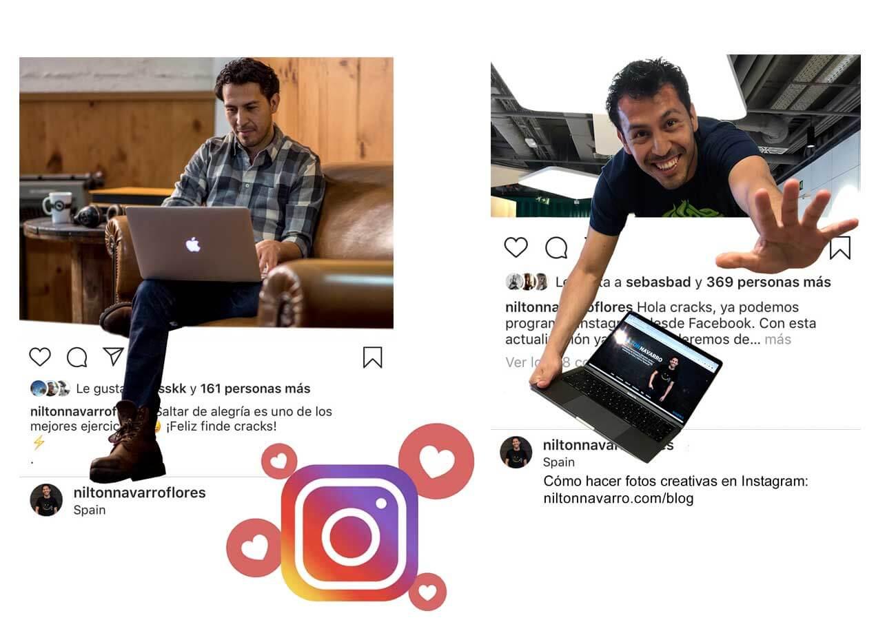 Cómo hacer fotos creativas para Instagram