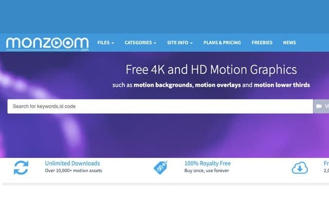 free 4k and hd motion graphics