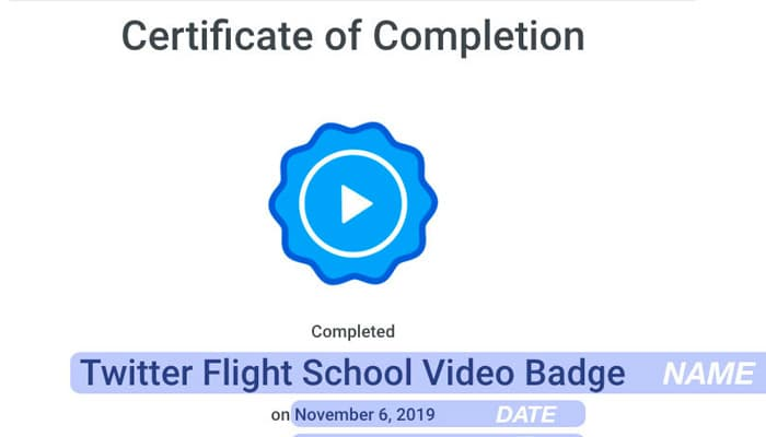 certificate twitter flight school