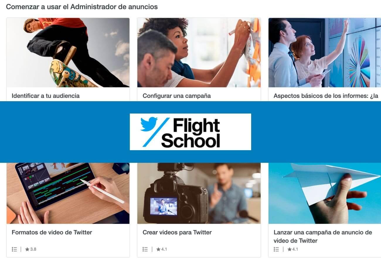 Fórmate gratis con Twitter Flight School