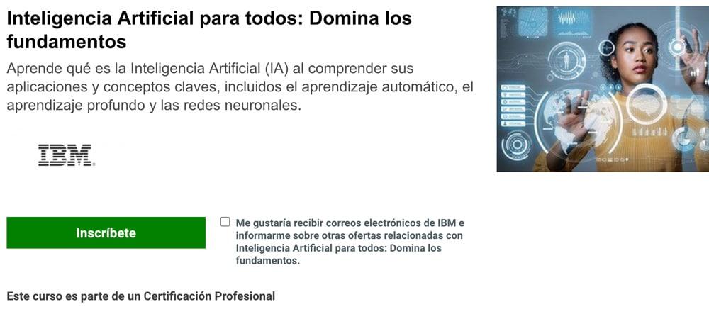 Cursos gratis de Inteligencia Artificial y ciencia de datos