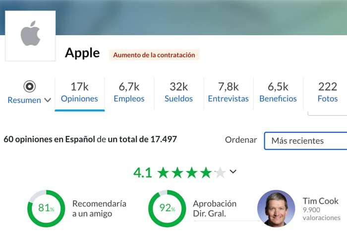 cuanto se paga en apple