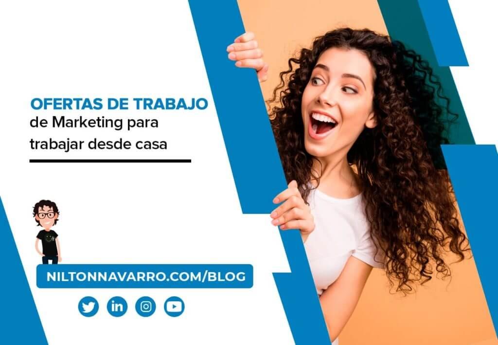 ofertas de trabajo de marketing para trabajar desde casa